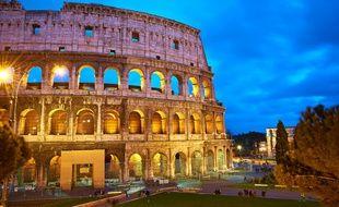 L'impressionnant Colisée, à Rome.
