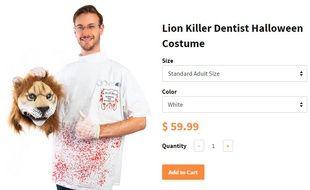 Pour Halloween 2015, un fabricant de costumes a sorti un déguisement de Walter Palmer, le dentiste qui a tué le lien Cecil.