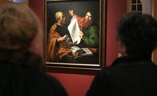 L'exposition «Ribera à Rome. Autour du premier Apostolado» au musée des Beaux-Arts de Strasbourg. Tableau Saint-Pierre et Saint Paul.