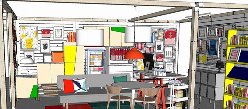 Exemple de module de pièce IKEA