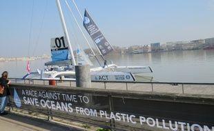 Le Race for water est accosté à Bordeaux jusqu'au 15 mars