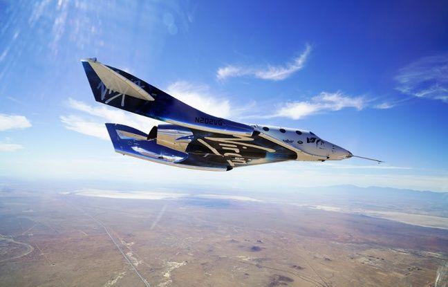 La navette Virgin Galactic, pour les voyages touristiques dans l'espace.