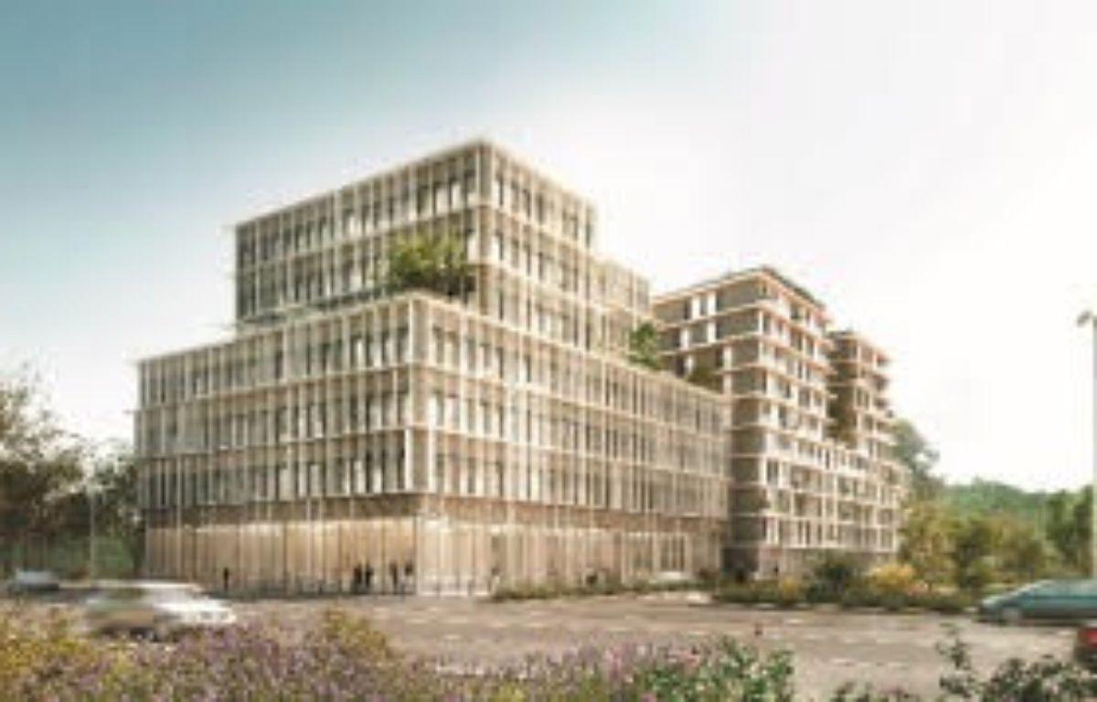 Perspective, le plus haut bâtiment tertiaire à ossature bois de France, verra le jour à Bordeaux - Architecte laisné roussel / Perspective Tàmas Fisher – Pichet Immobilier
