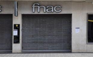 A Nice, dans les Alpes-Maritimes,une boutique Fnac fermée le 15 mars 2020.