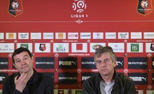 Michel Audrain et Christian Gourcuff ont collaboré ensemble lors du dernier passage de l'entraîneur au Stade Rennais.