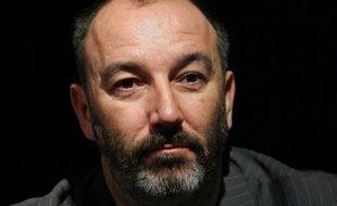 Pierre Bellanger, ancien PDG de Skyrock, lors d'une conférence  de presse de dirigeants de radio à Paris, le 13 novembre 2007