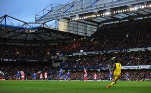 Stamford Bridge, le stade de Chelsea, lors d'un match contre Stoke City, le 5 avril 2014.