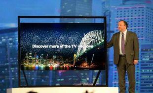 Samsung a présenté une nouvelle version de ses smart TV, le 7 janvier, au CES de Las Vegas.