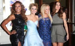 Melanie Brown, Geri Horner, Emma Bunton et Melanie Chisholm, quatre des Spice Girls, à la première de «Viva Forever», à Londres, en décembre 2012.