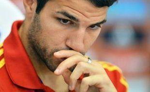 """Le sélectionneur de l'Espagne Vicente Del Bosque a choisi d'aligner le milieu Cesc Fabregas en """"faux neuf"""" dimanche pour la finale contre l'Italie à Kiev, comme cela avait déjà été le cas lors du premier match de poule de la Roja face aux Azzurri (1-1)."""