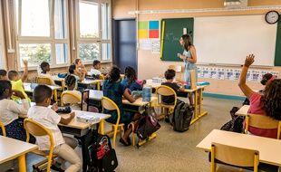 Une classe d'une école publique lyonnaise.