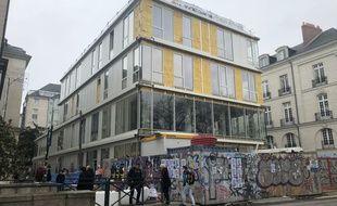 Le bâtiment Uniqlo en construction à Nantes