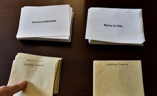 Image d'illustration de bulletins de vote lors de la dernière élection présidentielle.