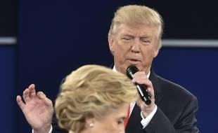 Donald Trump et Hillary Clinton lors du deuxième débat avant les élections américaines.