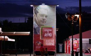 Une affiche pour Alexis Tsipras, dans Athènes, le 11 septembre 2015.