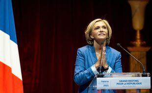 Valerie Pécresse en meeting politique au Cirque d'hiver à Paris, le 24 juin 2021.