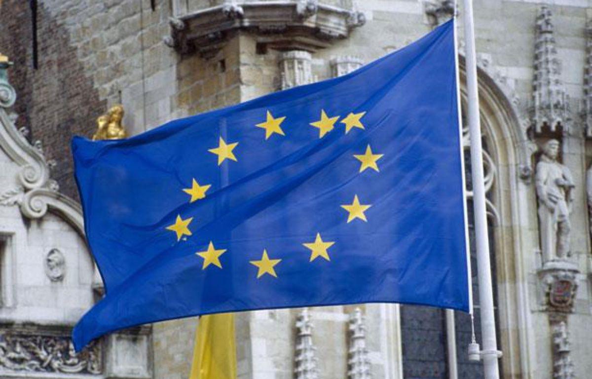 Le drapeau de l'Union européenne, qui vient de se voir attribuer le prix Nobel de la Paix 2012. – SUPERSTOCK/SUPERSTOCK/SIPA