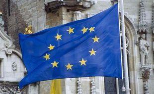 Le drapeau de l'Union européenne, qui vient de se voir attribuer le prix Nobel de la Paix 2012.