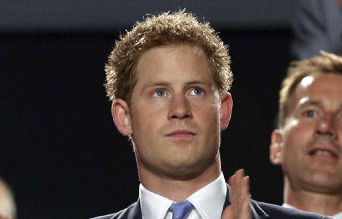 Le prince Harry à la cérémonie de clôture des Jeux Olympiques de Londres, le 12 août 2012. – Charlie Riedel/AP/SIPA