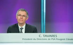 Carlos Tavares, président du directoire de PSA Peugeot Citroen, le 24 février 2016.