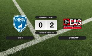 Ligue 2, 38ème journée: Guingamp bat Niort 0-2 au stade René-Gaillard