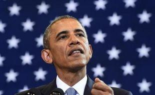 Barack Obama lors d'une courte allocution à la Maison Blanche, le 21 juillet 2014