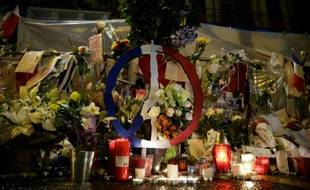 Photo d'illustration d'un hommage fait aux victimes du Bataclan, en novembre 2015 à Paris.
