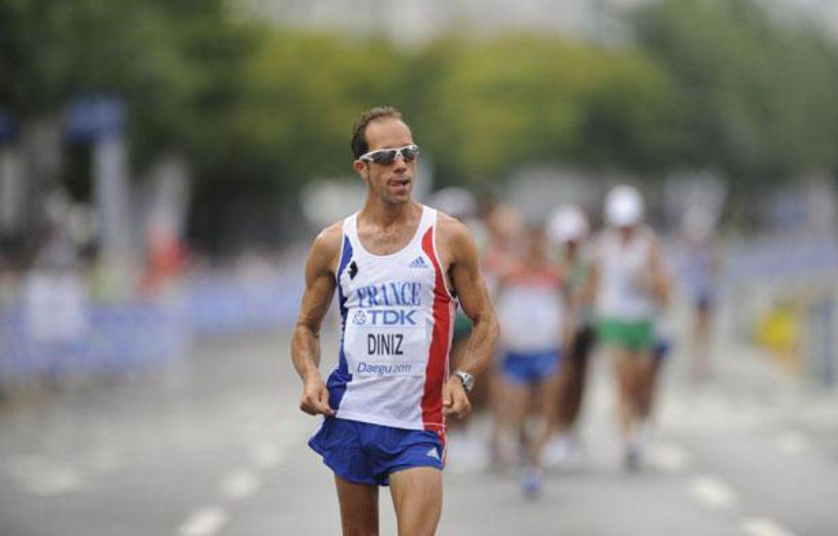Le marcheur français Yohan Diniz, le 3 septembre 2011, lors des championnats du monde, à Daegu. – PETER PARKS / AFP