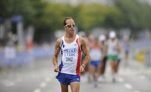 Le marcheur français Yohan Diniz, le 3 septembre 2011, lors des championnats du monde, à Daegu.