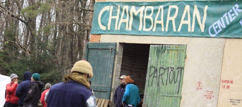 Les zadistes de la forêt de Chambaran, à côté de Roybon (Isère), ici en 2014.