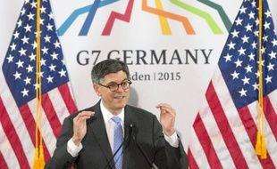 Le secrétaire américain au Trésor Jack Lew lors du G7 finance à Dresde le 29 mai 2015
