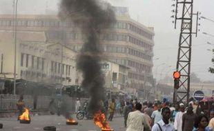 Bamako, la capitale du Mali, le 21 mars 2012. Des soldats ont proclamé avoir renversé le président Toumani, ont fermé les frontières et décrété un couvre-feu.