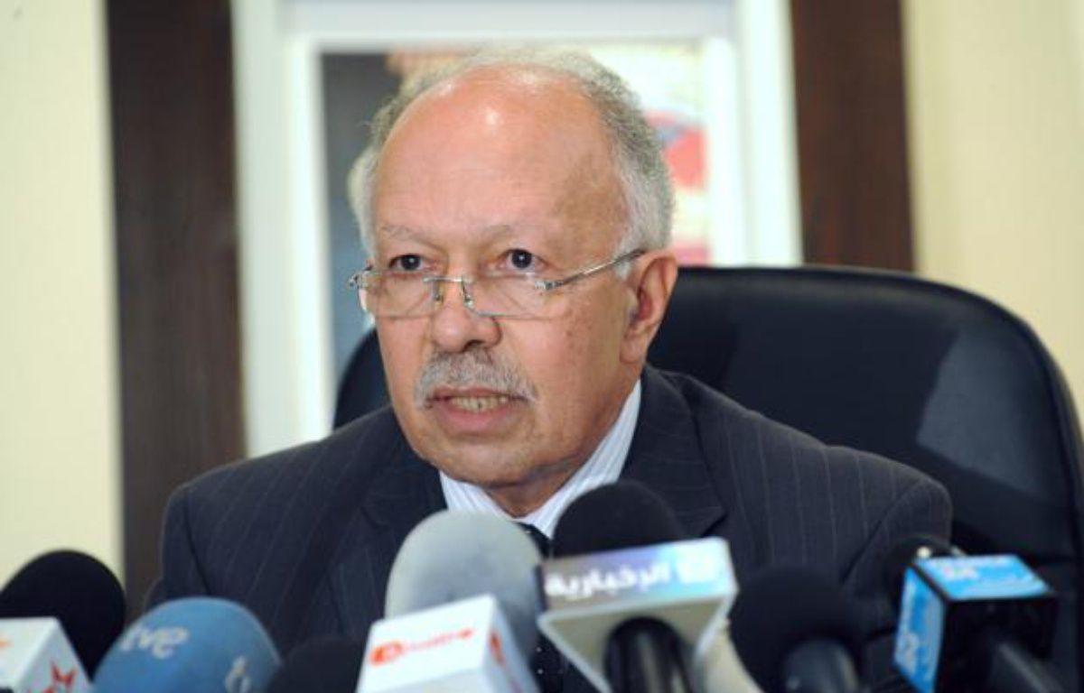 Khalid Naciri, le ministre de la communication et porte-parole du gouvernement marocain le 14 novembre 2010 à Rabbat. – AFP PHOTO / ABDELHAK SENNA
