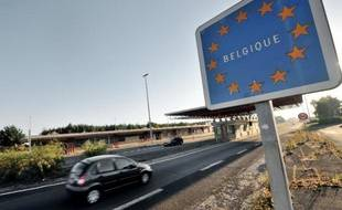 La frontière entre la France et la Belgique, à Godewaersvelde