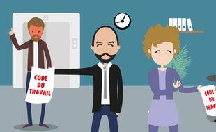illustration réforme code du travail
