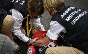 Richie Porte après sa chute sur le Tour de France