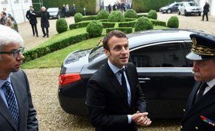 Le ministre de l'Economie Emmanuel Macron le 31 mai 2016 à Valenciennes, dans le nord de la France