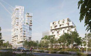 La tour de 17 étages envisagée par le bailleur Aiguillon Construction sera rabotée de cinq étages dans le quartier de la Poterie, à Rennes.