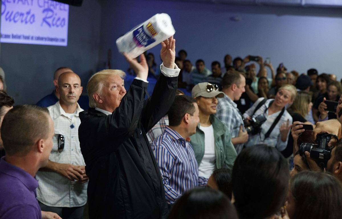 Ouragan Maria: Donald Trump choque la toile par son message