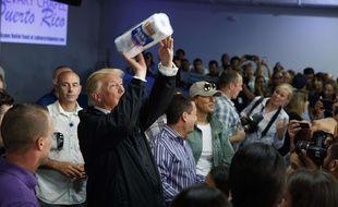 Donald Trump s'est rendu à Porto Rico le 3 octobre 2017.