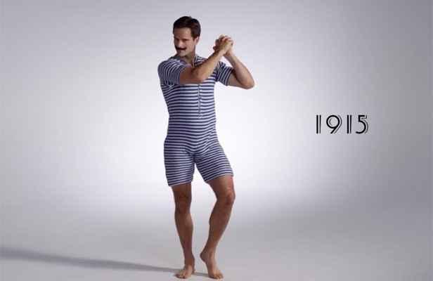 Video 100 ans de maillots de bain pour hommes en trois minutes - Maillot de bain annee 20 ...