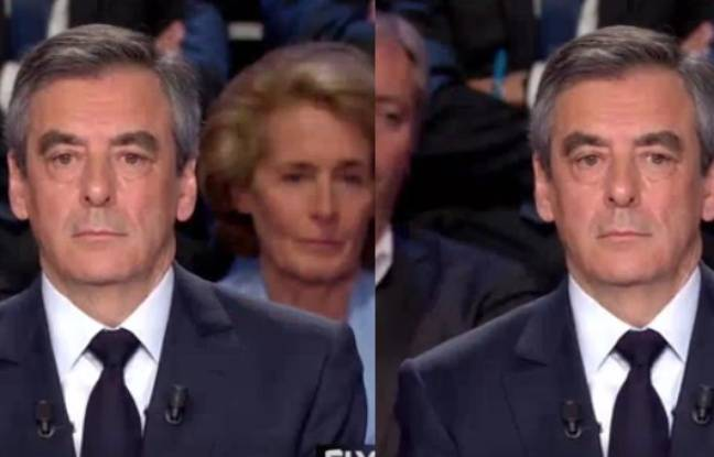 François Fillon le 4 avril 2017 lors du deuxième débat de l'élection présidentielle.