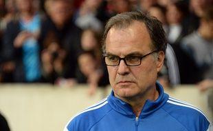 L'entraîneur de l'OM Marcelo Bielsa pendant Lille-OM, le 16 mai 2015.