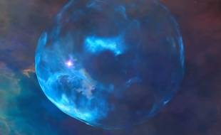 La nébuleuse de la Bulle, observée par le télescope spatial Hubble.