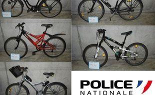 La police nantaise publie les photos des vélos retrouvés dimanche 14 février 2021