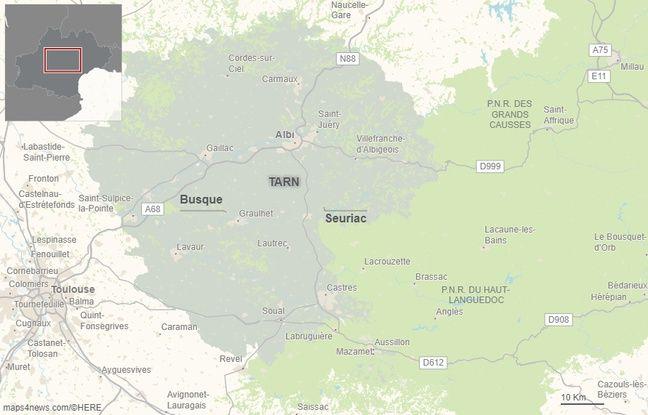La commune de Busque, près de Graulhet, dans le Tarn.