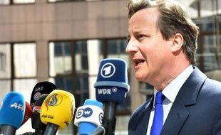 Le premier ministre britannique David Cameron à son arrivée au sommet européen de Bruxelles, le 23 avril 2015