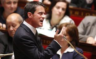 Le Premier ministre Manuel Valls lors de la séance de questions au gouvernement, le 25 mai 2016.