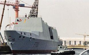 La frégate Lafayette, l'une des six frégates vendue à Taïwan, à la base navale de Lorient le 13 juin 1992