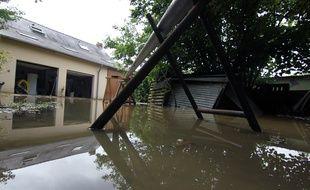 Des maisons ont été inondées par les pluies d'orage qui ont frappé l'Ille-et-Vilaine le 9 juin 2018. Ici à Piré-sur-Seiche.